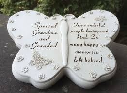 memorial for grandad butterfly shaped grave ornament