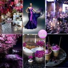 Purple And Silver Wedding A Dramatic Pink And Purple Wedding Inspiration Board