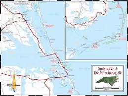 County Map Of North Carolina North Carolina Outer Banks Map