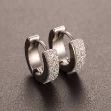 cool earrings three designs of cool men s or women s stainless steel hoop earrings
