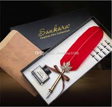 2017 fancy feather pen corporate business gifts suit creative