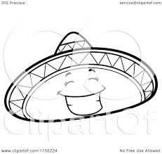 sombrero coloring page picture coloring page 9000