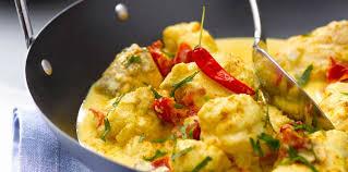 cuisiner une lotte lotte au curry recette sur cuisine actuelle