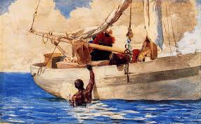 W Homer Artist by American Artist Winslow Homer Some Fishing And Boating Themed