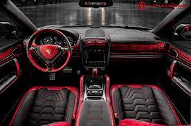 porsche macan red interior official porsche cayenne by carlex design gtspirit