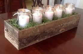 reclaimed wooden centerpiece for rustic fall themed also nature