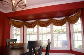 Window Scarves For Large Windows Inspiration Simple Bay Window Treatment Ideas From Bay Window Curtain Ideas
