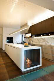 White Kitchen With Black Island Kitchen Accessories Brick Wall Fireplace Black Island Base White