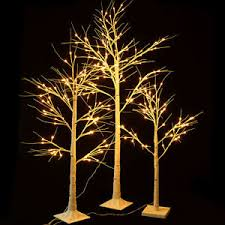 artificial birch trees with lights warm led christmas chic birch twig wedding artificial xmas