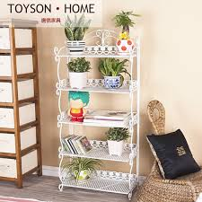 iron off the living room wood bookcase shelves display showcase flower jewelry rack shelf ikea yiyuan european style garden iron wrought iron carved living room