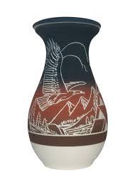 burial urn blue burial urn etched soaring eagle