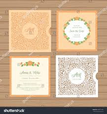 Wedding Invitation Greeting Cards Wedding Invitation Greeting Card Flower Ornament Stock Vector