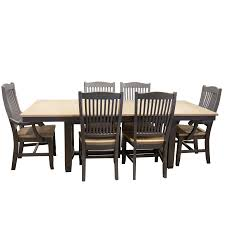 port townsend 7 piece dinette set trestle table with 4 side