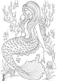 mermaid coloring page mermaid coloring pages for adults