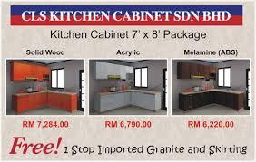 cls kitchen cabinet 7 u0027 package cls kitchen cabinet sdn bhd