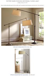 Pottery Barn Floor Lamps Copy Cat Chic Find Pottery Barn U0027s Chelsea Sectional Floor Lamp Vs