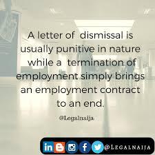 Termination Of Employment Letter To Employee by Difference Between Letter Of Dismissal U0026 Letter Of Termination