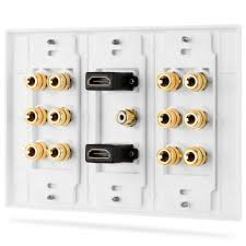 home theater wall plates save 42 fosmon 3 gang 6 1 surround distribution home theater