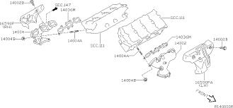 nissan murano catalytic converter 2005 nissan altima sedan oem parts nissan usa estore