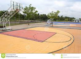 outdoor street basketball court stock photo image 60183438
