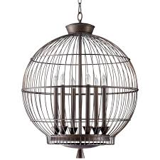 Bird Cage Chandelier Amazing Of Round Cage Chandelier Gilded Cage Large Round