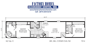 Floor Plans For Mobile Homes Single Wide Single Wide 2 Bedroom 2 Bath Mobile Homes