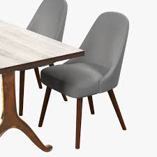 West Elm Outdoor Chairs West Elm Mid Century Dining Chair And Table 3d Model Max Obj 3ds