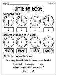telling time assessment worksheet grade math unit 15 telling time telling time worksheets