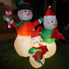 furniture lighted vine snowman outdoor decoration