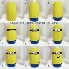 adventures in acetone tutorial tuesday minion nail art nail