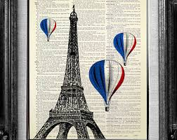 eiffel tower art etsy