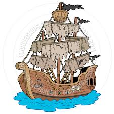 cartoon mysterious ship by clairev toon vectors eps 42690