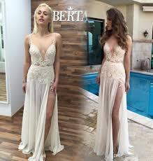 boho 2016 berta long beach wedding dresses with spaghetti