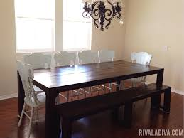 parsons dining room table diy restoration hardware farmhouse table love this informal