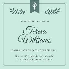 funeral invitation sle funeral announcement template funeral invitation templates canva