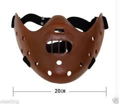 Mask Movie Halloween Costume Resin Silence Lambs Hannibal Lecter Corffee Mask Movie