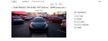 people are selling their tesla model 3 reservations for a 300