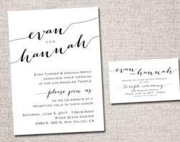 lds wedding invitations printable wedding announcement lds mormon wedding invitation