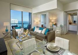 living room miami beach living room with sofabed and private balcony in deluxe ocean view