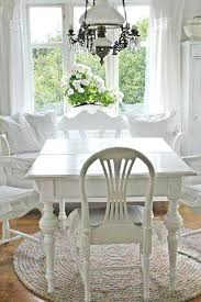 cottage style round dining room table white cottageshabby cottage