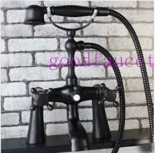 Bathtub Faucets With Sprayer Oil Rubbed Bronze Clawfoot Bathtub Faucet Mixer Tap With Pillars