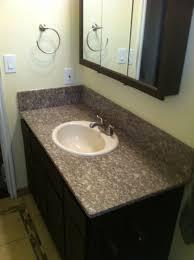 Granite Table Hack An Inexpensive Granite Table Into A Bathroom Vanity 9 Steps