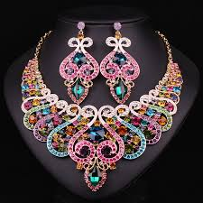 white gold fashion necklace images White gold plated jewellery bridal jewelry sets wedding necklace jpg