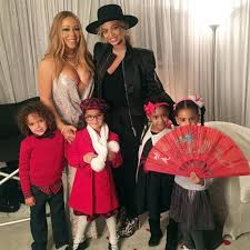 apple martin blue ivy divas u0027 kids unite beyoncé and mariah carey u0027s children pose for a