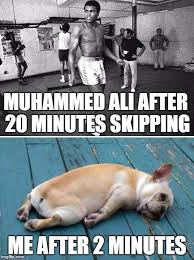 Exhausted Meme - the truth about exercise imgflip
