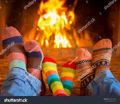 family relaxing home feet christmas socks stock photo 338116940