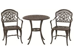hanamint tuscany 3 piece bistro set with ornate casting and