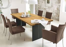 scratch resistant dining table anti bacterium wood modern dining table furniture for 6 8 chair