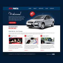 creative call to action website template design psd for auto