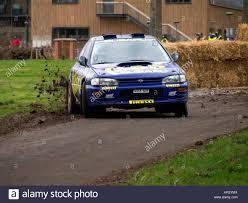 subaru rally racing rally stage at race retro subaru wrx stock photo royalty free